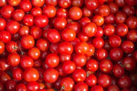 Ripe tomatoes on the market
