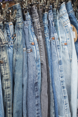Jeans in the retail store photo