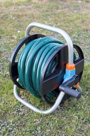 water hose: Water hose on stand