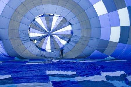 Binnenkant van de hete lucht ballon.