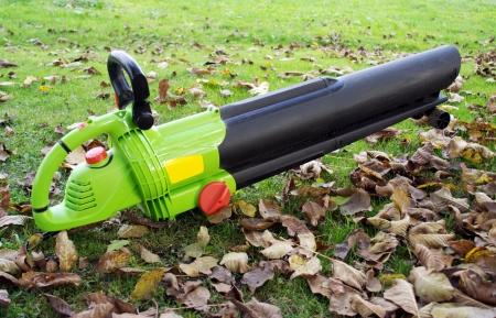 Leaf blower on the ground