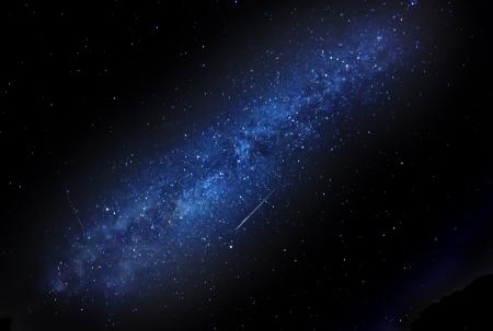 etoiles filante: Ciel de nuit avec la Voie Lact�e et �toile filante