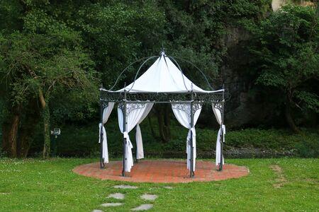 Baeutiful metal luxury garden tent.