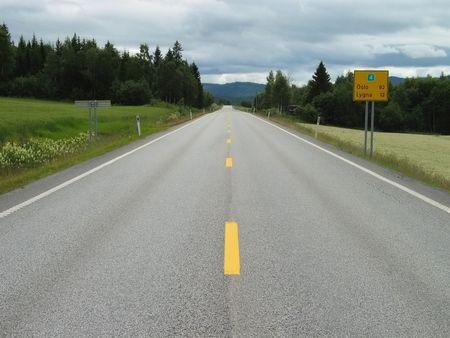 kilometres: Norway highway