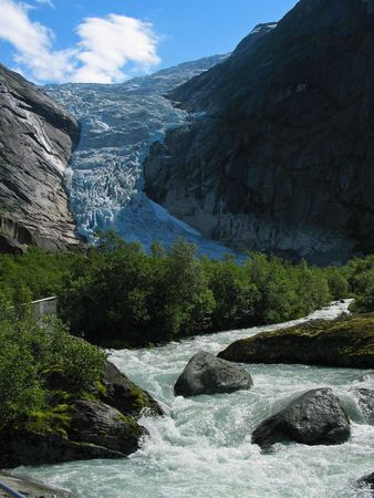 jostedal: The river formed as a result of thawing of a glacier