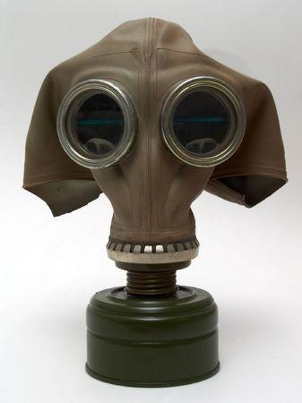 gasmask: Gas-mask, isolata su bianco