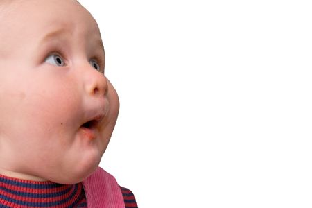 surprised face: baby with very surprised face