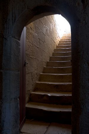 stairs in an old Portuguese building. Belim tower, Lisbon, Portugal. photo