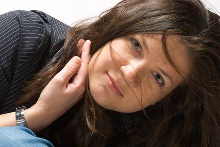 beautiful young woman close-up portrait Stock Photo - 1990159