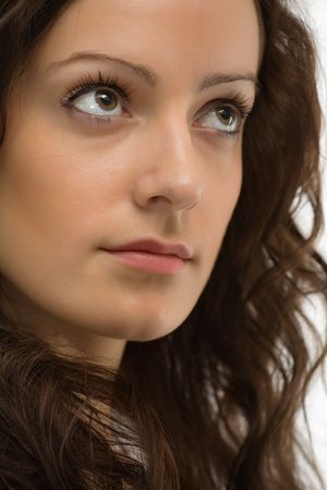 close-up portrait of young beautiful woman with green eyes Stock Photo - 2988309