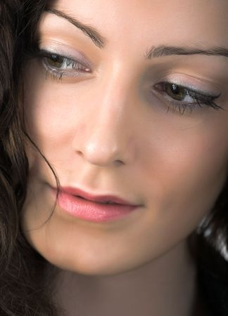 close-up portrait of young beautiful woman with green eyes Stock Photo - 2988032