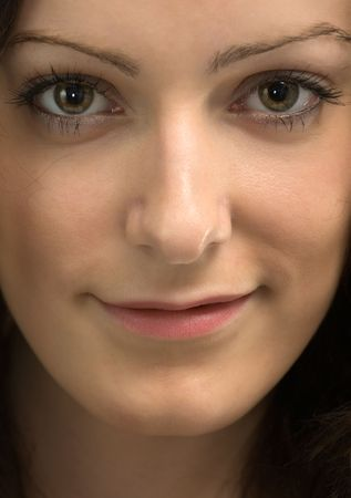 close-up portrait of young beautiful woman with green eyes Stock Photo - 2995793