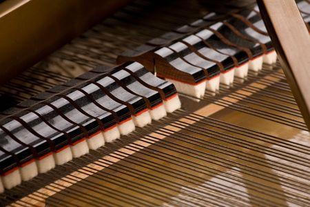 piano de cola: Detalles del interior del piano de cola
