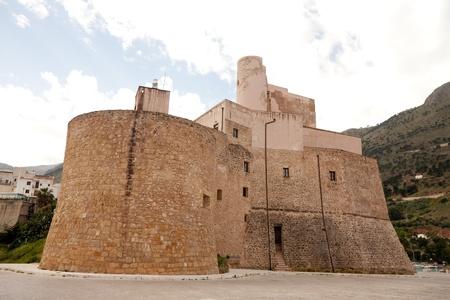 castellammare del golfo: old medieval fortress of Castellammare del Golfo town, Sicily, Italy