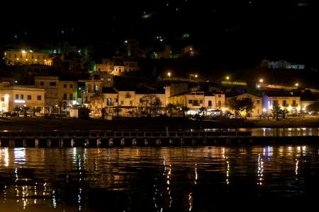 castellammare del golfo: evening view of embankment of Castellammare del Golfo town, Sicily, Italy