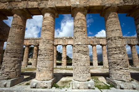calatafimi: ancient Greek temple of Venus in Segesta village, Sicily, Italy