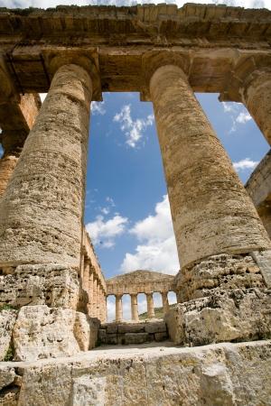 segesta: ancient Greek temple of Venus in Segesta village, Sicily, Italy