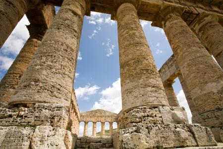 grec antique: ancien temple grec de V�nus en Segesta village, Sicile, Italie Banque d'images