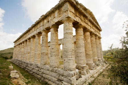 ancient Greek temple of Venus in Segesta village, Sicily, Italy photo