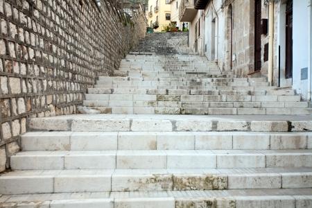 castellammare del golfo: high stone stairway of Castellammare del Golfo town, Sicily, Italy