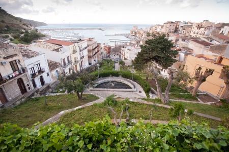 castellammare del golfo: small garden in Castellammare del Golfo town, Sicily, Italy