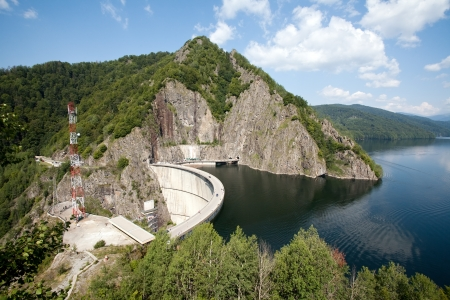big dam on Transfagarasan mountain route, Romania photo