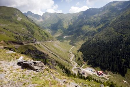 rumania: Transfagarasan Romanian highway: scenic mountain road Stock Photo