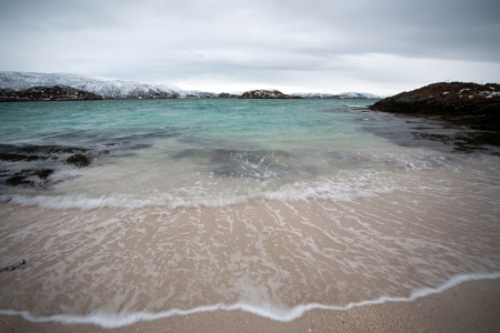 Norway winter coast, Sommaroy island, Norway photo