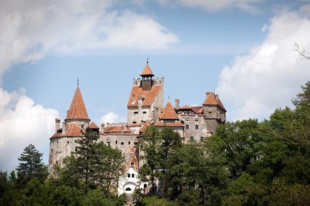 rumania: front view of Bran medieval castle, Wallachia, Romania