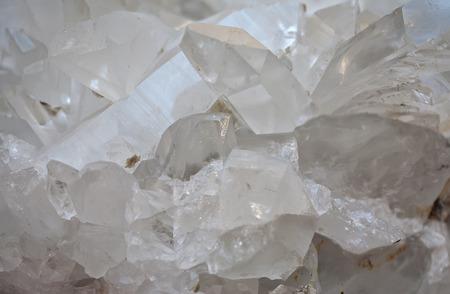 precious stone rock crystal transparent druse closeup Stock Photo