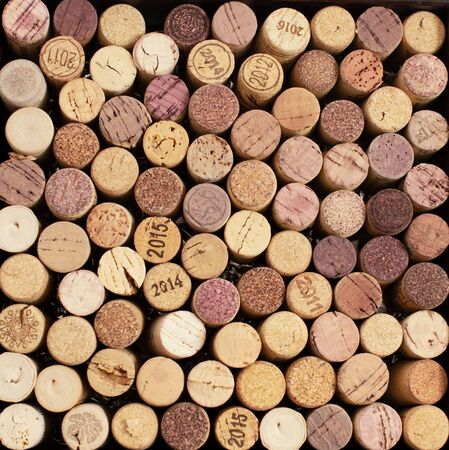 corks from wine bottles lying like background