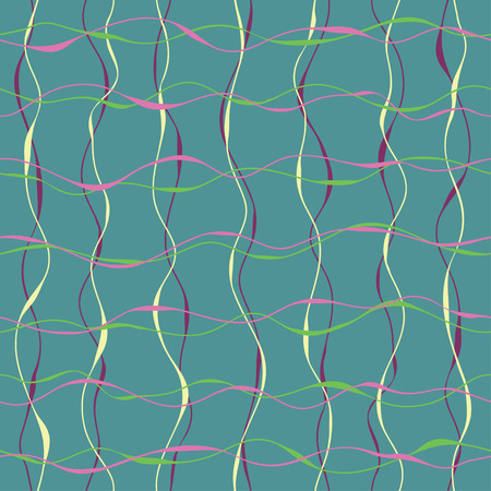 crossing tangle: The seamless pattern with wavy lines  Hand drawn lines with bold fragments