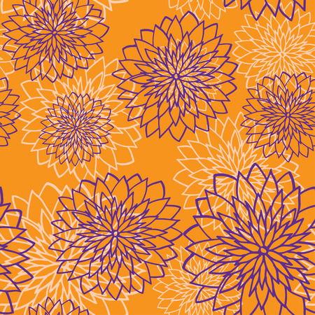 The seamless pattern with violet flowers and pale flowers on a background  Иллюстрация
