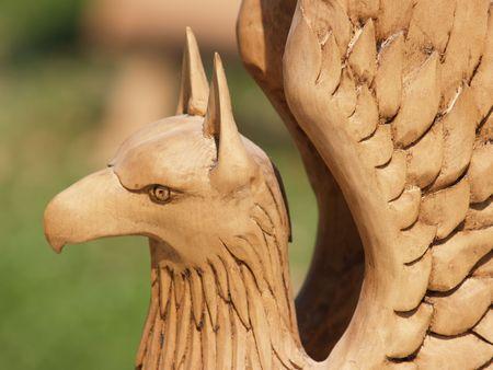 Wooden Griffen Stock fotó