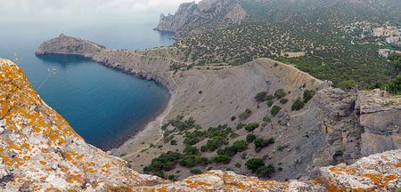 megapixel: Coastline landscape of Novyj Svit reserve (Crimea, Ukraine). Original of this composite picture have 72 megapixel. Stock Photo