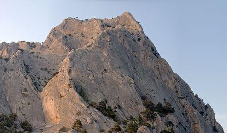 rocky mountain juniper: Top of  Rock  in evening sunlight