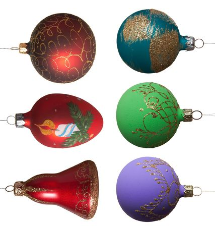 Collection of New Year's - Christmas tree toys Stock Photo - 2020141