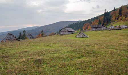 Autumn in mountain farmstead Stock Photo - 2046721