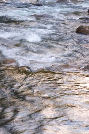 sheen: mountain river with rapid current (background) Stock Photo