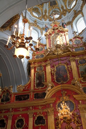 bartolomeo rastrelli: Inside view of Kyiv Saint Andrews Church . Kiev-City centre, Ukraine. Building of  XVIII century, sculptor - Francesco Bartolomeo Rastrelli Editorial