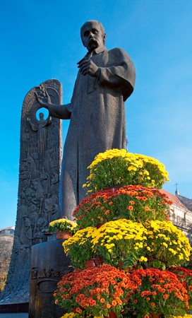 Poet Taras Shevchenko monument in Lviv City (Ukraine). photo