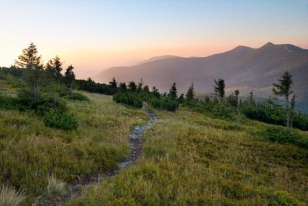 Carpathian Mountains (Ukraine) sunset landscape. Stock Photo - 4503780