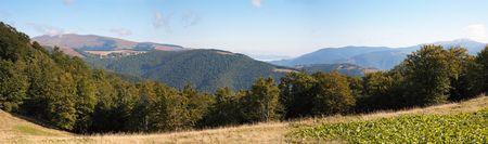Carpathian Mountains (Ukraine) landscape. Three shots composite picture. photo