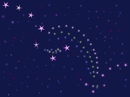 starlit sky: starry night sky (constellations the Great Bear and Little Bear) (vector illustration) Illustration