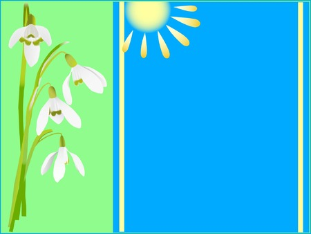 festal: Holiday card with spring flowers (vector illustration) Illustration