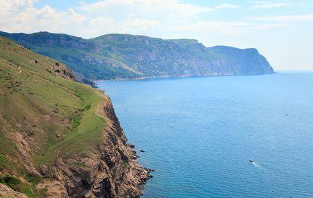 promontory: Summer coast view from Balaclava(Crimea, Ukraine) Stock Photo
