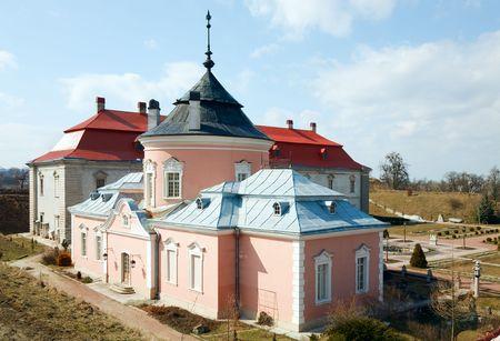 sobieski: Spring view of old Zolochiv castle (Ukraine, Lviv Region, Dutch style, built in 1634-36 by Jakub Sobieski)