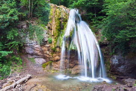Summer mountain waterfall (Crimea, Ukraine) Stock Photo - 8797175
