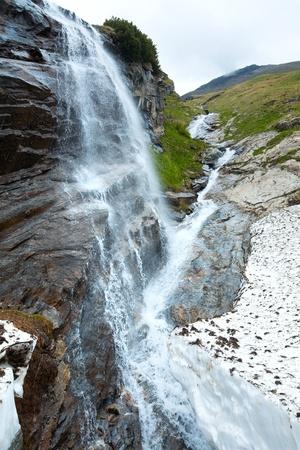 grossglockner: Small waterfall near Grossglockner High Alpine Road.