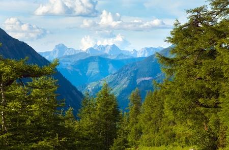 grossglockner: Tranquil summer Alps mountain (view from Grossglockner High Alpine Road)